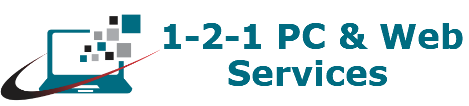 1-2-1 PC & Web Services Logo
