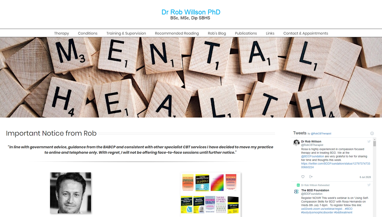 Dr. Willson's website (site by 1-2-1 PC & Web Services)